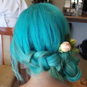 Hair Scene - Coloured Wedding Hair