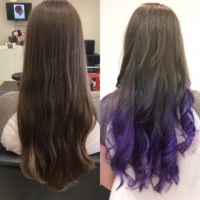 Hair Scene - Long hair style colour purple image