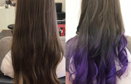 Hair Scene - Long hair style colour purple image