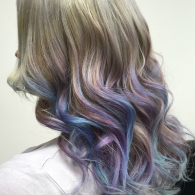 Colouring Hair - Purple and Blue image