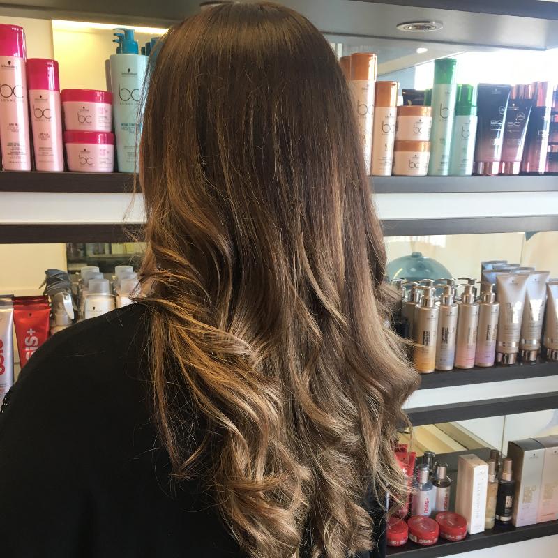 Hair Scene - Long Dark Hair Style - Colouring