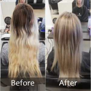 Large regrowth before and after