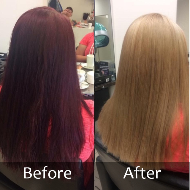 Hair Scene - Before and After Colour Correction