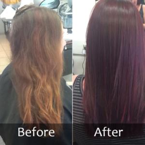 Hair Scene - Colour correction for darker hair