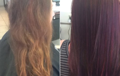 Colour correction for darker hair