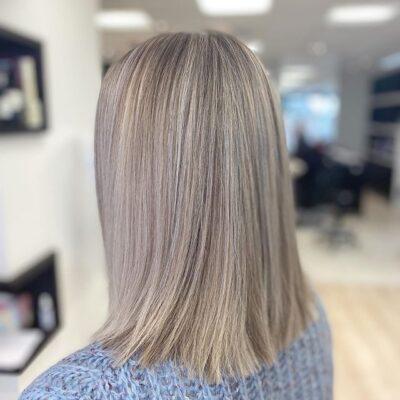 Hair Scene - Fine foils on medium length hair