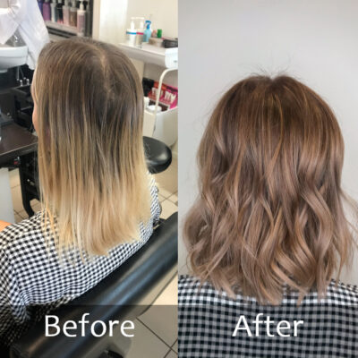 Colour -Before and After