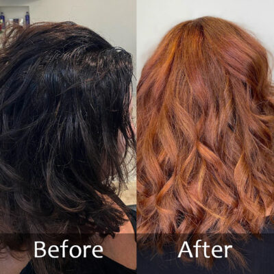 Colour Dark to Copper-Before and After