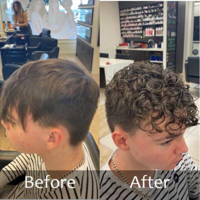 Mens Perm Short Hair